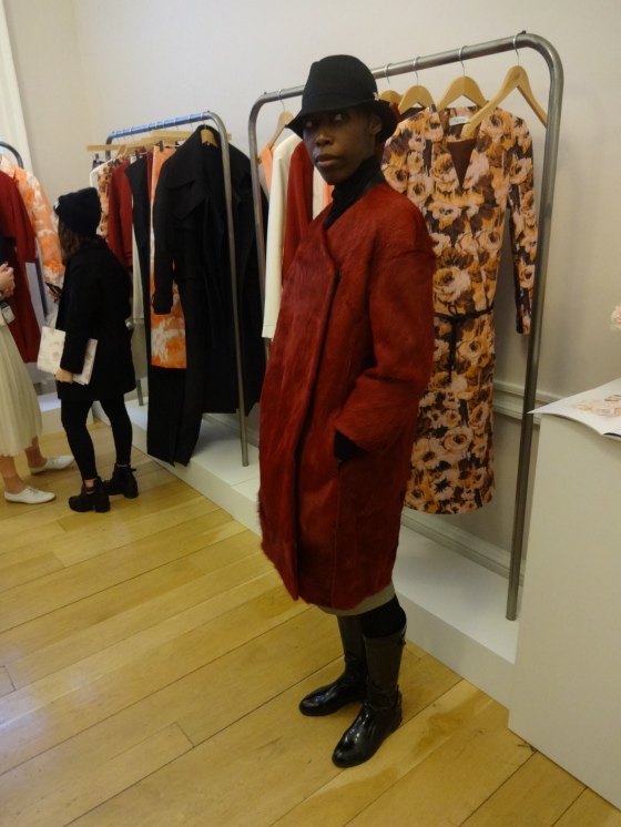 Pavane Autumn/Winter 2014 (fellow fashion blogger, Afrow in the coat)