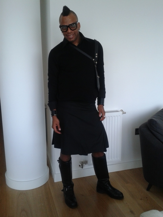 My Solid Black Kilt during London Fashion Week