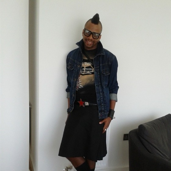 Me in my Solid Black kilt yesterday.