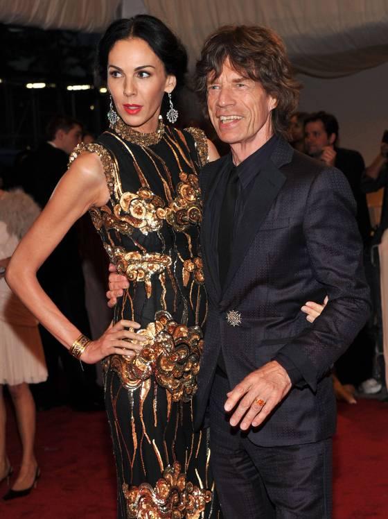 L'Wren Scott and her boyfriend, Mick Jagger