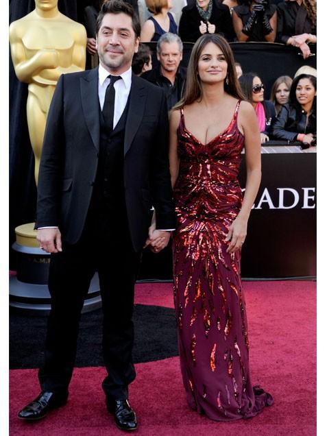 Penelope Cruz in L'Wren Scott with Javier Bardem