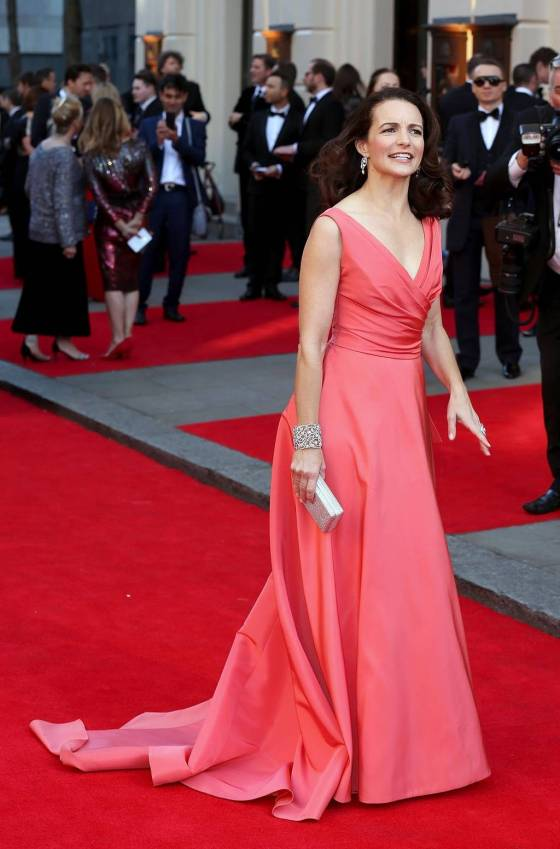 "Kristin Davis at the Olivier Awards 2014. She stars in ""Fatal Attraction"" which is based on the Michael Douglas/Glenn Close movie."