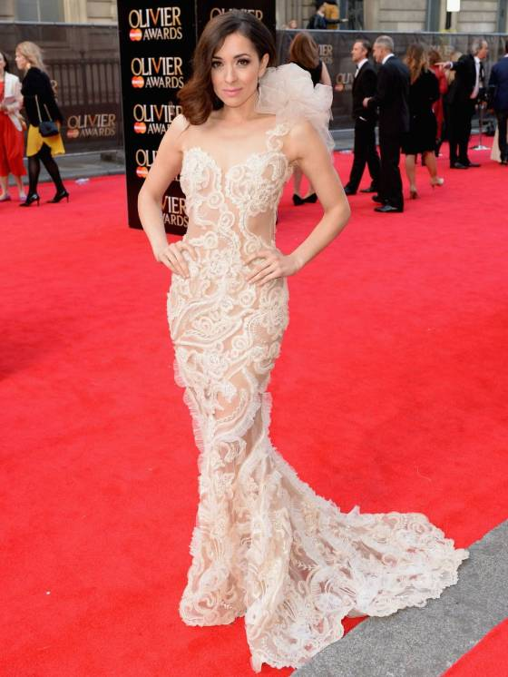 "Zrinka Cvitesic at the Olivier Awards 2014. She stars in the Irish musical ""Once""."