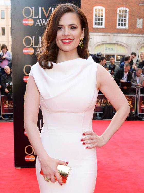 Hayley Atwell at the Olivier Awards 2014
