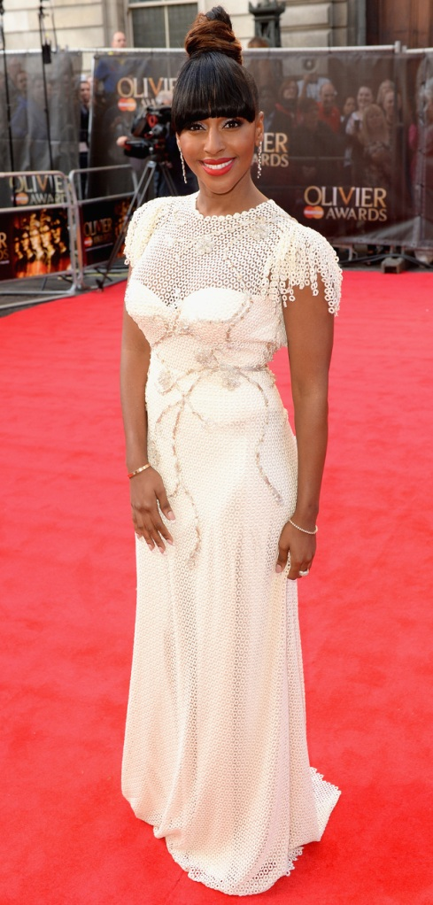 "Alexandra Burke at the Olivier Awards 2014. She will be taking over as Rachel in ""The Bodyguard"""