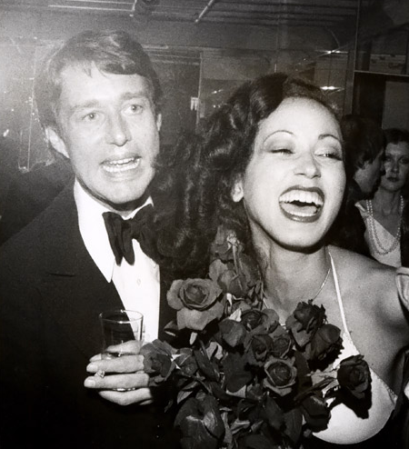 Halston and Pat Cleveland.