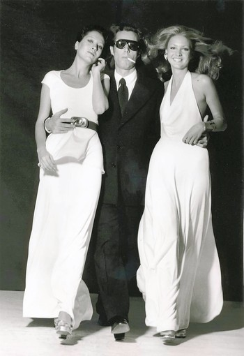 Halston with Elsa Piretti (left) and Karen Bjornsen (right).