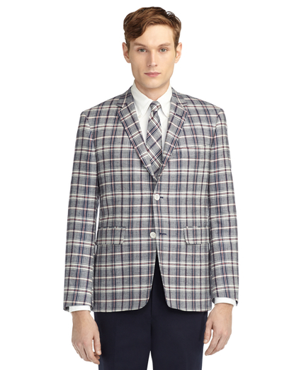 Brooks Brothers/Thom Browne collaboration called Black Fleece. It is a combination of menswear staples in the Brooks Brothers tradition updated with a Thom Browne edge.