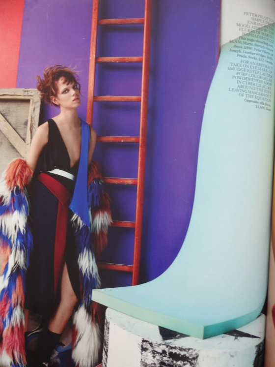 Abstract Thinking editorial in the September 2014 issue of British Vogue Magazine.