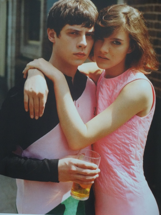 The Sixties influenced and styled Join Our Club editorial in the September 2014 issue of British Vogue. This shot is with the singer, Jake Bugg.