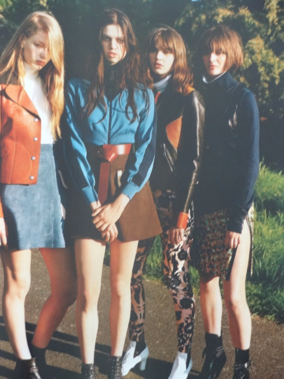 The Sixties influenced and styled Join Our Club editorial in the September 2014 issue of British Vogue.