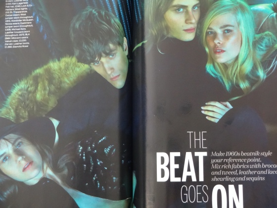 The Sixties inspired The Beat Goes On editorial in the September 2014 issue of British Elle Magazine.