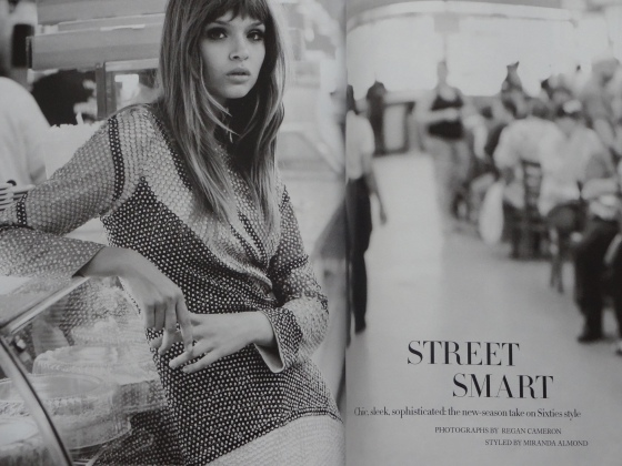 The Sixties inspired Street Smart editorial in the September 2014 issue of Harper's Bazaar. This particular editorial takes place in my hometown of NYC!!!!