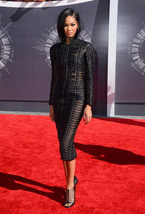 Chanel Iman at the MTV Video Music Awards 2014.