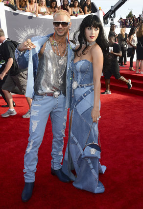 Katy Perry and rapper, Riff Raff at the MTV Video Music Awards 2014.