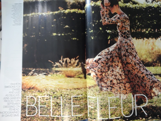 "The ""Belle Fleur"" editorial in the September 2014 issue of American Vogue."