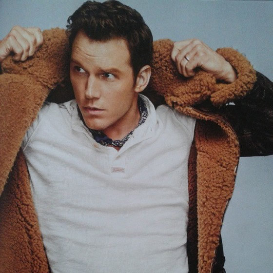 "Chris Pratt, star of ""Guardians Of The Galaxy"" in the December 2014 issue of American GQ."