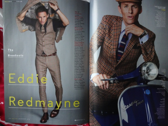 Eddie Redmayne in the December 2014 issue of American GQ.